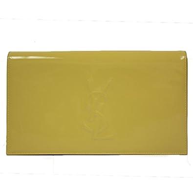 YSL Yves Saint Laurent Belle Du Jour Neon Yellow Patent Leather ...