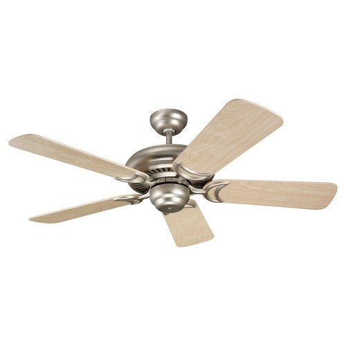 Monte Carlo 5DS44BP Designer Supreme II 44-Inch 5-Blade Ceiling Fan with Natural Maple Blades, Brushed Pewter