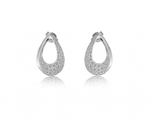 Lifestyle Infinity Lifestyle Clear Cubic Zirconia Drop Earrings For Women (E204009R) (Transperant)