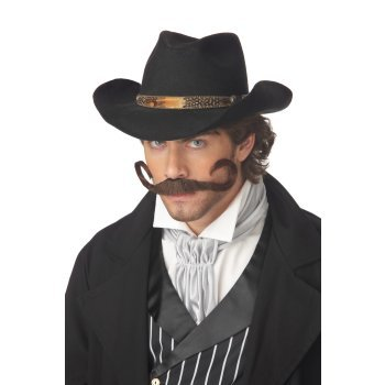 The Gunslinger Costume Moustache for Men