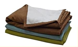 Faux Suede and Sherpa Throw Blue Regular