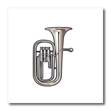 Susans Zoo Crew Music - euphonium brass instrument music realistic - 10x10