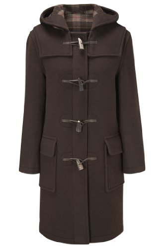 Womens Long Duffle Coats -- Chocolate -- Size 32