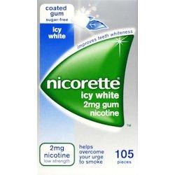 Nicorette Icy White Gum 2mg - 105 Pieces