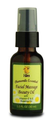 I-Wen Chamomile Essential Facial Massage Beauty Oil - 1 Fl Oz (30 Ml)