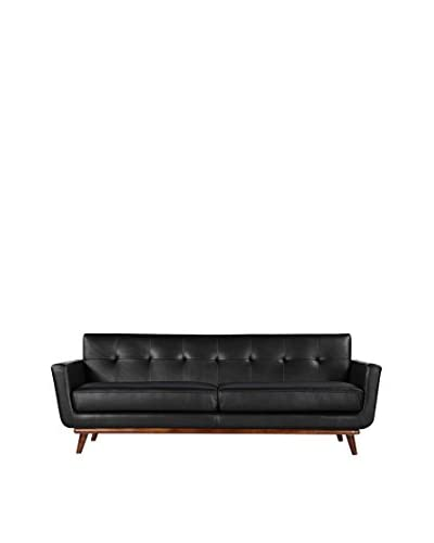 Kardiel Jackie Mid-Century Modern Classic Sofa, Black
