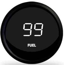 Intellitronix Digital Fuel Level M9016 Gauge in White (Digital Fuel Level Gauge compare prices)