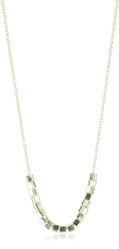 SKU Jewelry Handmade Sterling Silver Square Beaded Necklace, 18 inches