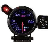 オートゲージ(AUTOGAUGE) ブースト計 PK80Φ 3色LED 外付ワーニングライト コントロールボックス オートゲージ/autogauge