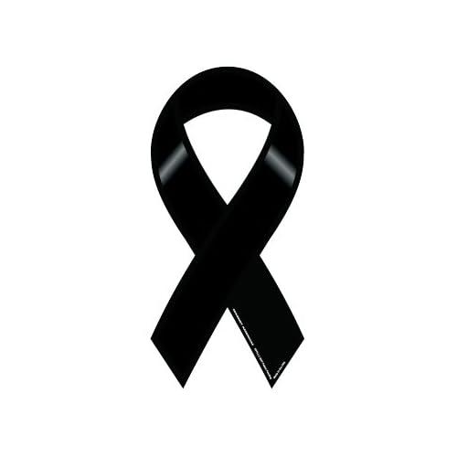 Amazon.com: Plain Black Rememberance Ribbon Magnet