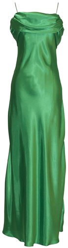 Grecian Satin Prom Formal Gown Long Holiday Party Cocktail Dress Bridesmaid, Medium, Apple Green