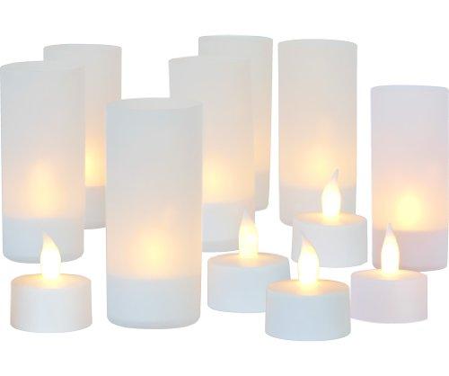 LED Teelichter mit Akku (12er Set)