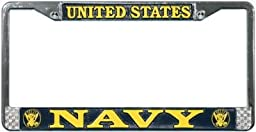 US Navy License Plate Frame (Chrome Metal)