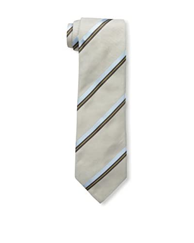 Valentino Men's Striped Tie, Taupe Stripe