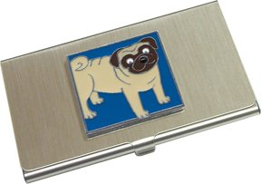 Fawn Pug Business Card Holder / Case