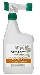 BRAMTON COMPANY - VET\'S BEST NATURAL FLEA & TICK YARD/KENNEL SPRAY 32 OZ