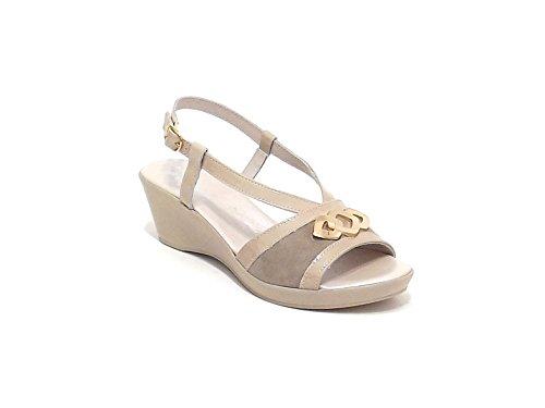 Susimoda scarpa donna, modello sandalo 250824, in camoscio, colore beige