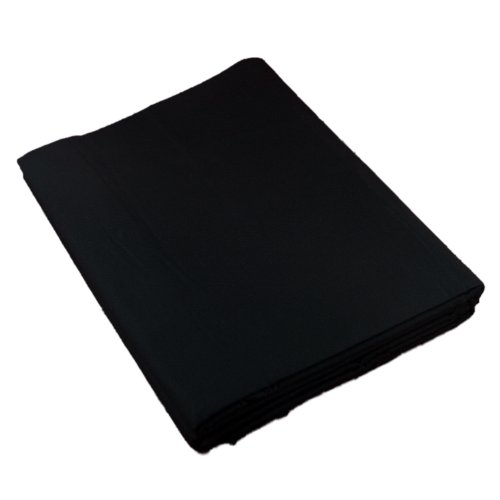 PhotoSEL BK13CB Black Screen 100% Muslin Photography Backdrop 3m x 6m (10' x 20') with Carrying Bag
