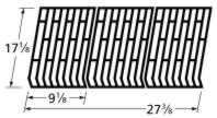 Music City Metals 65693 Gloss Cast Iron Cooking Grid Replacement for Select Fiesta Gas Grill Models, Set of 3