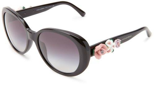 D&G Dolce & Gabbana 0Dg4183 501/8G57 Oval Sunglasses,Black,57 Mm