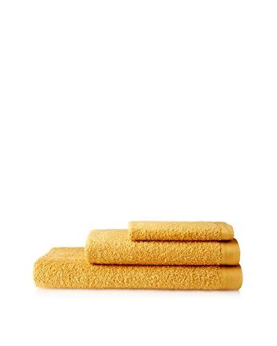AMR Set of Three Towels, Mustard