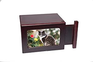 Photo Pet Memorial Urn For Ashes Medium Cremation Box. Designed Specifically For Use As A Cat Urn Or Dog Urn.