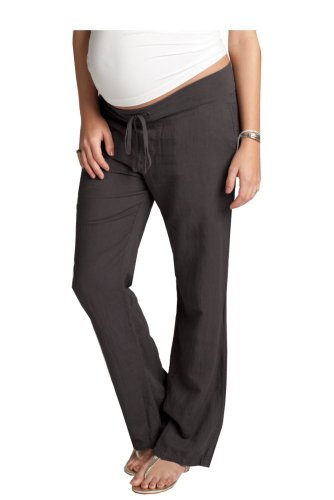 Ingrid & Isabel Linen Pant - Grey - Xs front-614136