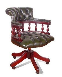 chesterfield captains leather office chair kitchen
