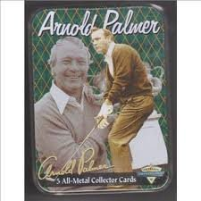 Arnold Palmer 5 All-Metal Collector Cards in a Collector Tin