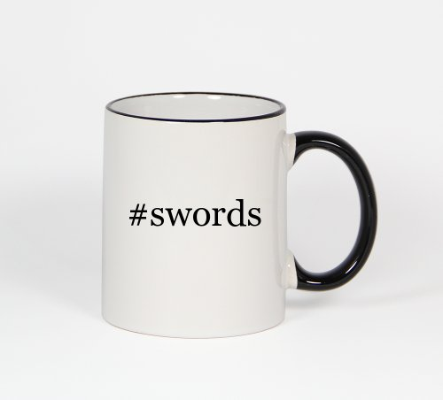 #Swords - Funny Hashtag 11Oz Black Handle Coffee Mug Cup