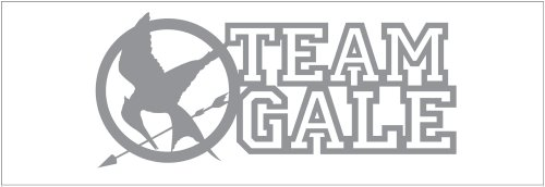 Hunger Games Team Gale Mocking Jay Sticker Decal. Metallic Silver