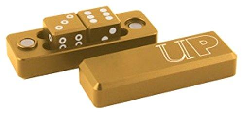 "Ultra Pro d6 Gravity Dice - Gold [2 Six-Sided 0.630"" Dice Set Aluminum]"