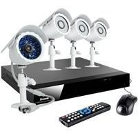 ZMODO 4 Ch Security DVR Surveillance System With 4 Outdoor Weatherproof IR Night Vision Video Digital Camera 500GB HD