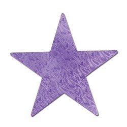 Embossed Foil Star Cutout (purple) Party Accessory  (1 count) - 1