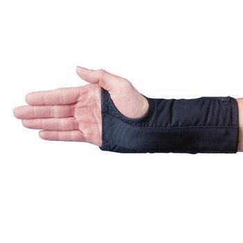 Rolyan D-Ring Wrist Braces Black - Right Xl - Long Length - Model A60730 front-1055030