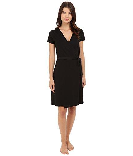 PACT Super Soft Organic Women's Wrap Dress Style EA1-WWD (Large, Black) (Inc Dress Wrap compare prices)