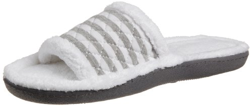 Cheap Isotoner Women's Quilted Stripe Slide Slipper (B004HZYYOM)