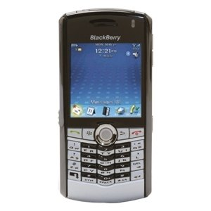 Blackberry Pearl 8100 Silver Unlocked GSM Cell Phone - Quad-Band, EDGE, MicroSD Slot, Camera, QWERTY Keyboard, Media Player