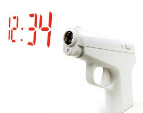 プロジェクトクロック007 目覚まし ハンドガンタイプ 映写 ハンドガン型 早朝MISSION バイブ機能 スヌーズ 二度寝 極秘任務 子供 プレゼント HAYACLO