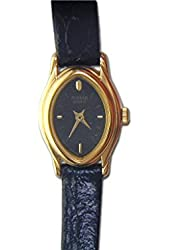 Pulsar Womens Watch with Black Leather Strap