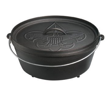 Lodge L12Co3Bs Boy Scouts Of America Pre-Seasoned Camp Oven, 6-Quart