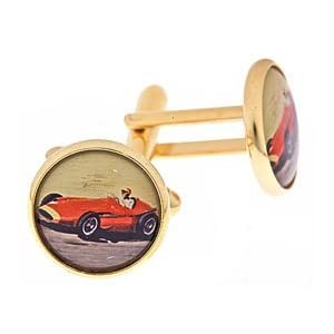 Buy Vintage Red F1 Racing Car Cufflinks