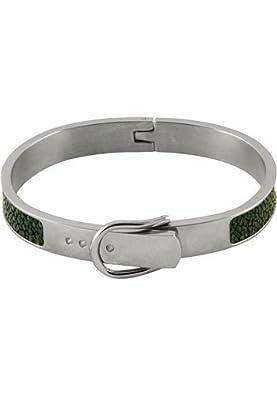 Green Premium Bracelet Top Quality - Genuine Stingray Skin Leather