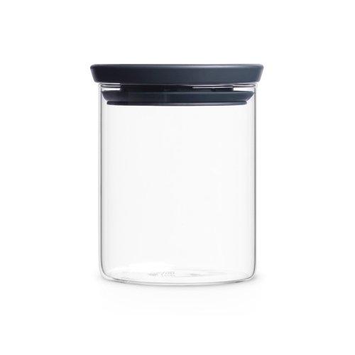 Image of Brabantia 298288 Glasbehälter 0,6 L, dunkel grau