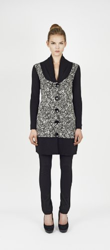 James Lakeland Long Cardigan Black Size 10