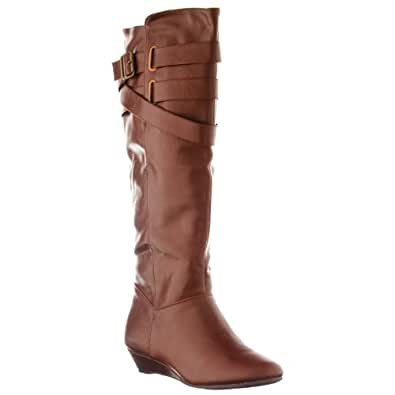 Madden Girl by Steve Madden Women's 'Zing' Knee High Boots, Brown, Size 11