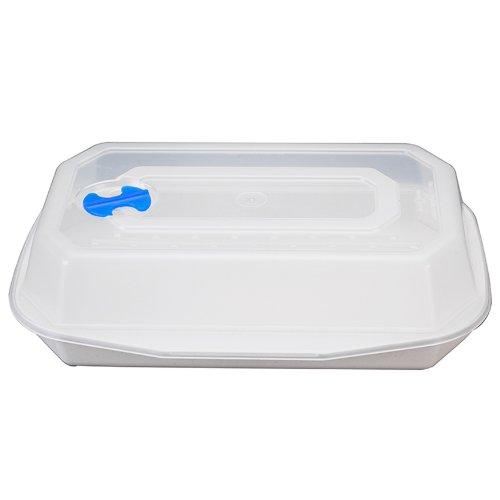 Nordic Ware Microwave 5 Minute Rectangular Brownie Pan front-581055