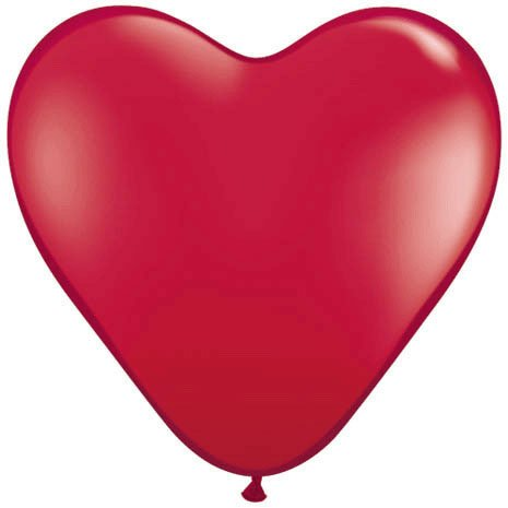 "15"" Ruby Red Heart Latex Balloons (10 ct)"