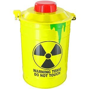 Toxic Waste Security Warning Alarm Cookie Jar