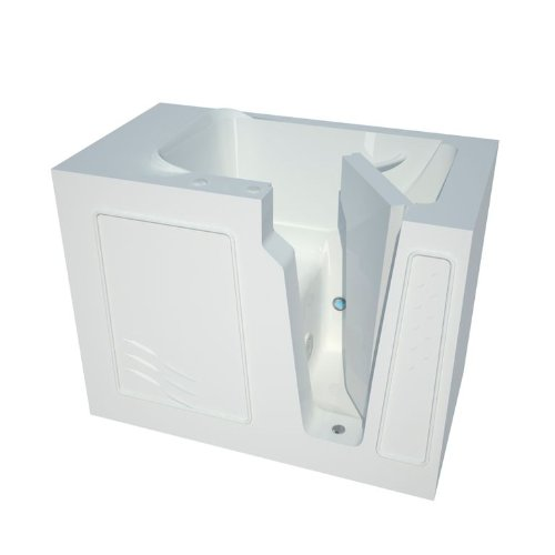 Meditub mt2952rws curved door 29 by 52 by 40 inch walk in for Best soaker tub for the money